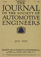 Journal of the S.A.E. 1927-07-01 - July 01, 1927