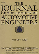 Journal of the S.A.E. 1927-08-01 - August 01, 1927