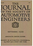 Journal of the S.A.E. 1926-09-01 - September 01, 1926