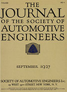 Journal of the S.A.E. 1927-09-01 - September 01, 1927