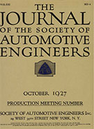 Journal of the S.A.E. 1927-10-01 - October 01, 1927