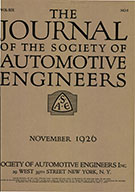 Journal of the S.A.E. 1926-11-01 - November 01, 1926