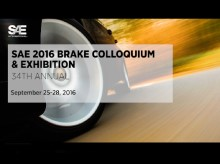 Why You Should Participate in the SAE 2016 Brake Colloquium & Exhibition