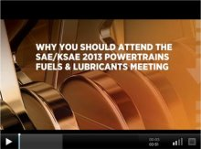 Why You Should Attend the SAE/KSAE 2013 Powertrains Fuels & Lubricants Meeting
