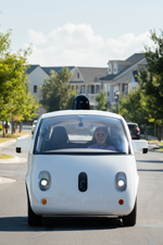 In September 2015, Steve Mahan, who is legally blind, became passenger for the world's first fully driverless ride on public roads, with no police escort, no closed course, and no test driver, as part of the Google self-driving car project. (Source: Waymo)